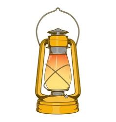 Antique Brass Old Kerosene Lamp vector image vector image