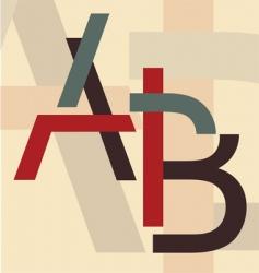 alphabet a b vector image vector image