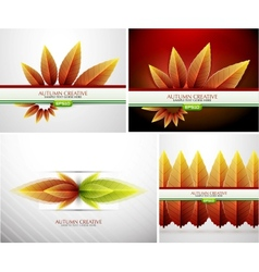 Autumn background set vector image