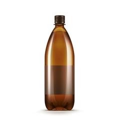 Blank Brown Plastic Water Beer Kvass Bottle vector image vector image