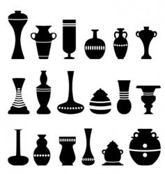 decorative vase vector image