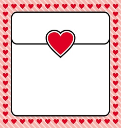 Frame border red heart design for valentine vector image