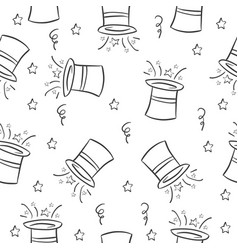 hat circus pattern style collection vector image
