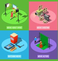movie production design concept vector image