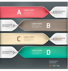 Spiral infographics options banner vector image vector image