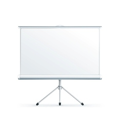 Blank Projection screen vector image vector image