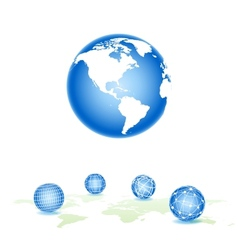 global spheres vector image vector image