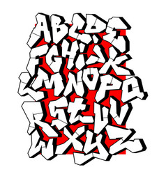 straight lines font editable alphabet vector image