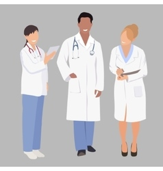 a group medical professionals vector image