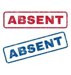 Absent Rubber Stamps vector image