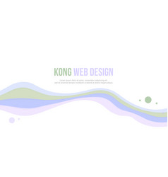 Abstract header website bubble and wave design vector