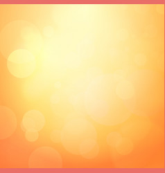 abstract orange background with light bokeh vector image