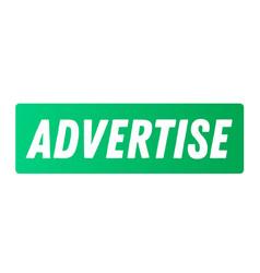 Advertise advertising sticker vector