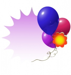 advertisement balloons vector image