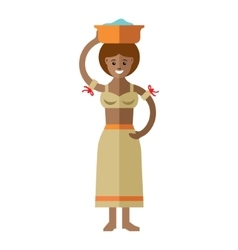 African laundress Flat style colorful vector image