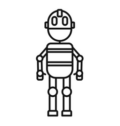 Alien robot icon outline style vector