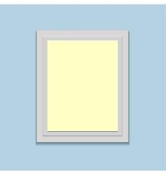 blank retro photo frame over soft background vector image