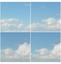 Blue sky with clouds Collection of abstract vector image