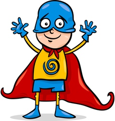 boy in hero costume cartoon vector image