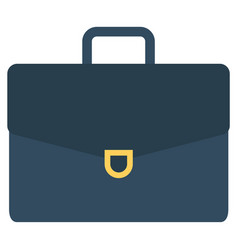 briefcase with documents bag businessman icon vector image