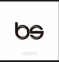 Bs initial letter split lowercase modern monogram vector