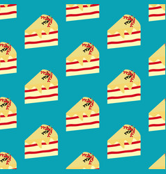 Cake dessert seamless pattern vector