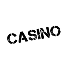 Casino rubber stamp vector