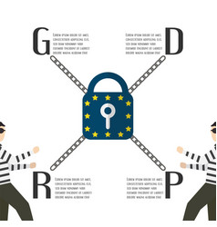 character design with gdpr concept isolated on vector image