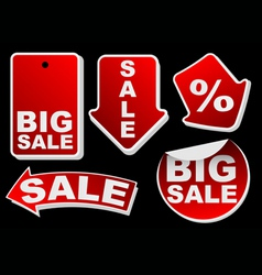 collection of various red isolated sale tags vector image vector image