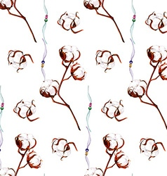 Cotton pattern vector image