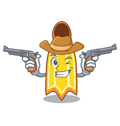 Cowboy swim fin character cartoon vector
