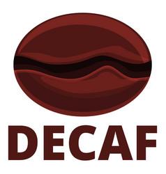 Decaf bean icon cartoon style vector