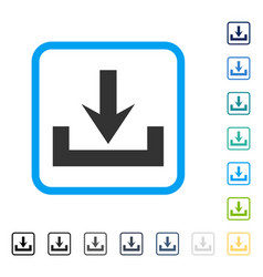 Downloads framed icon vector