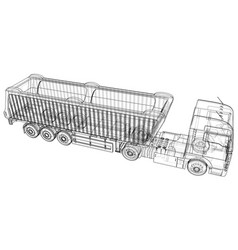 dump truck isolated white vector image