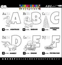 educational cartoon alphabet letters set from vector image