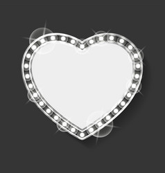 empty banner in form heart romantic frame vector image