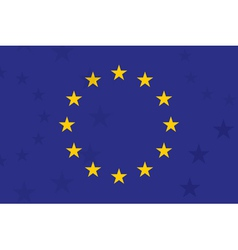 european union flag with additional stars vector image