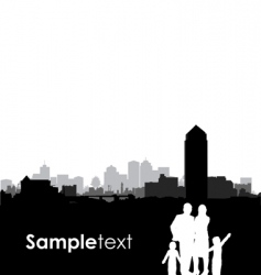 family cityscape vector image