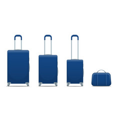 flat blue business and family vacation travel vector image