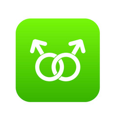 gay love sign icon digital green vector image