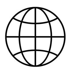globe line icon simple minimal 96x96 pictogram vector image