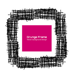 grunge frame texture flax paint template vector image