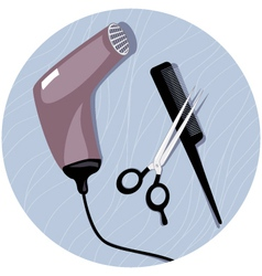 Hairdresser tools vector
