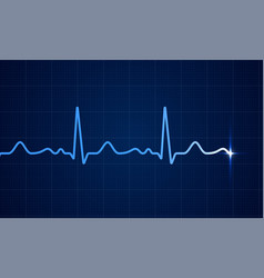 Heart cardiogram pulse screen background vector