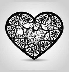Heart with mandala boho style vector