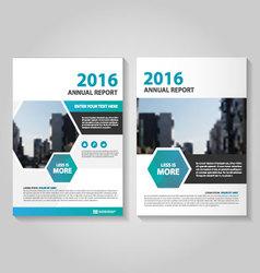 Hexagon annual report leaflet brochure set vector