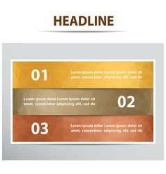 infographic banner with 3 steps vector image