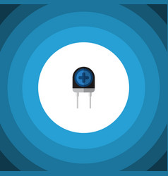 Isolated diode flat icon transducer vector