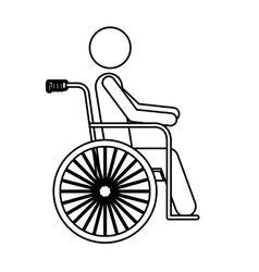 Isolated wheelchair for disabled people design vector image