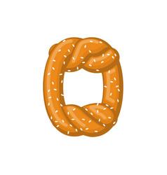 letter o pretzel snack font symbol food alphabet vector image